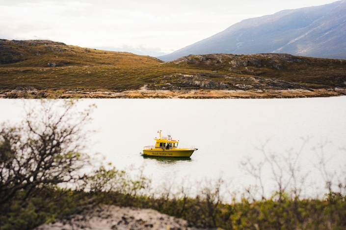 Nuuk Water Taxi Boat. Photo by Aningaaq R Carlsen