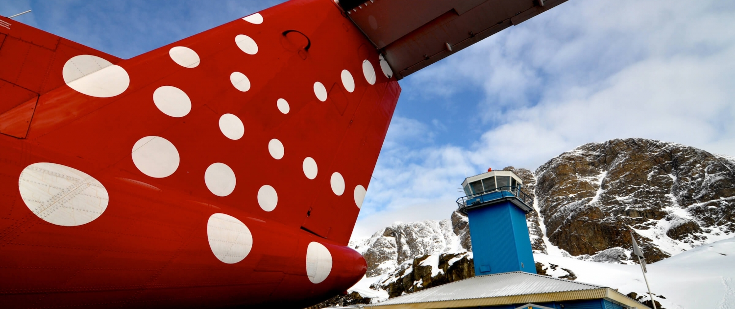 Spring weather at Sisimiut Airport in Greenland