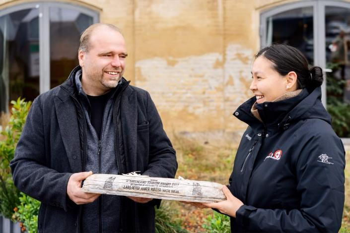 Vinderen af Greenland Tourism Award Lars Anker møller. Foto af Filip Gielda, Visit Greenland