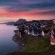 Pink sky, colourful Nuuk. Visit Greenland's Nytårsfortsæt 2020