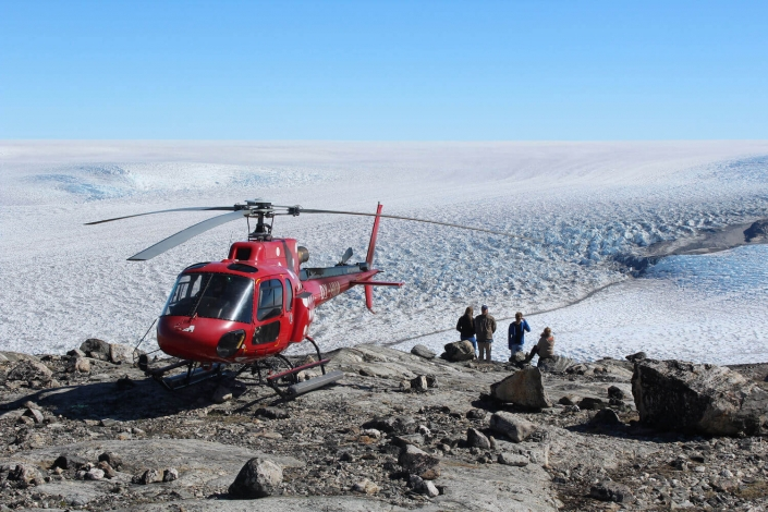Arctic Nomad canon 127 helicopter. Photo by Arctic Nomad, Visit Greenland
