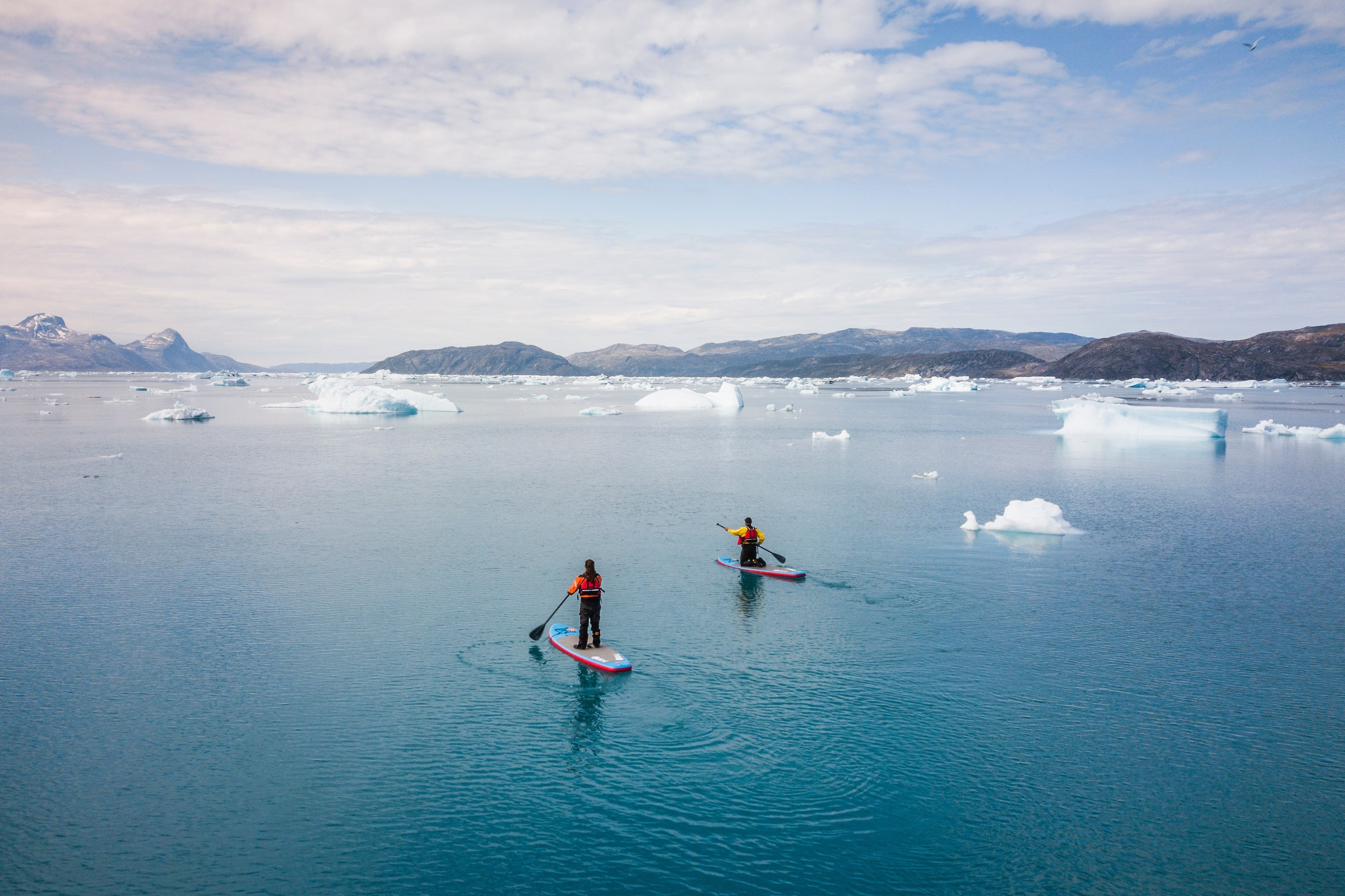 Free Riders Heading Out. Photo by Aningaaq R Carlsen - Visit Greenland
