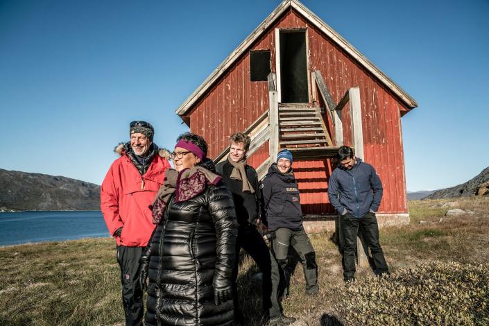 Tour Group in Saqqarliit. Photo - Per Arnesen, Visit Greenland