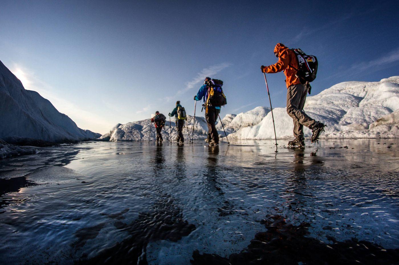Glacier walking on the Greenland Ice Sheet near Kangerlussuaq, by Mads Pihl - Visit Greenland
