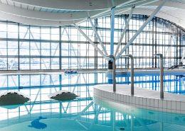 Architecture - Interior of the indoor swimmingpool Malik in Nuuk in Greenland, by Rebecca Gustafsson