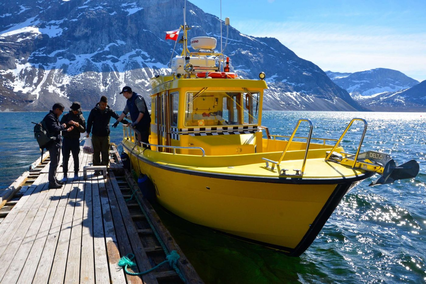 Catch of the day at the dock. Photo by Nuuk Water Taxi
