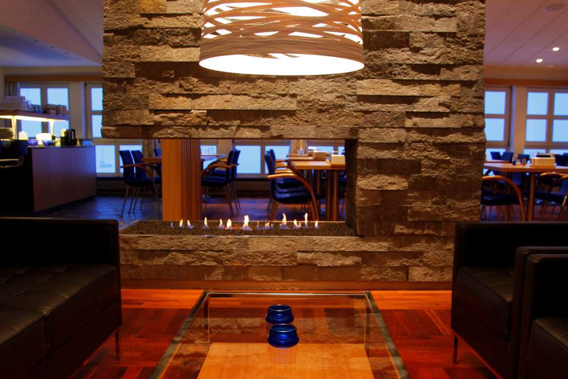 Dining and lounge area. Photo by Hotel Angmagssalik