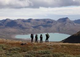 Hikers in Aasivissuit UNESCO area close to Kangerlussuaq Photo by Morten Christensen