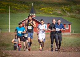 Marathon runners at the Leif den Lykkeliges Marathon in Qassiarsuk in South Greenland. By Mads Pihl