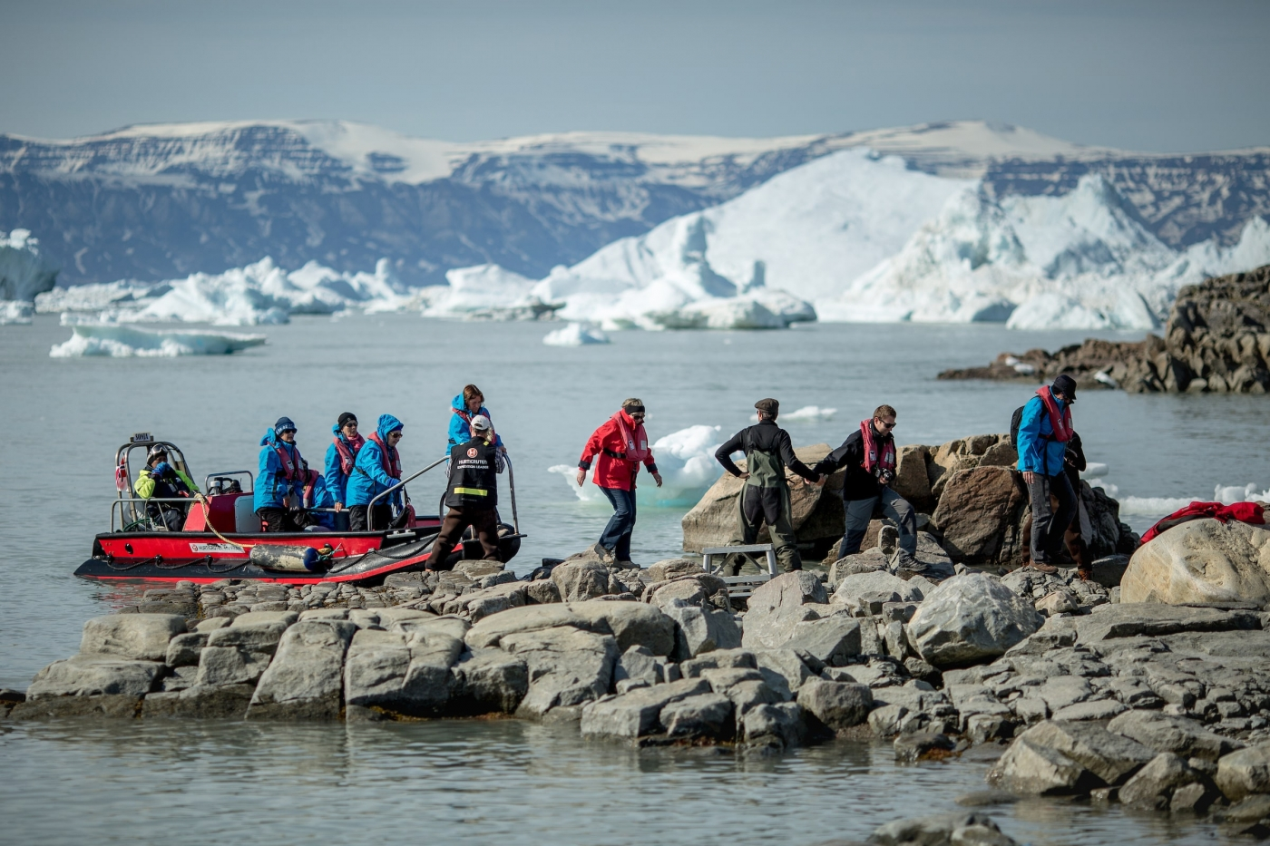 A nature landing with MS Fram near Saqqaq in Greenland. By Mads Pihl