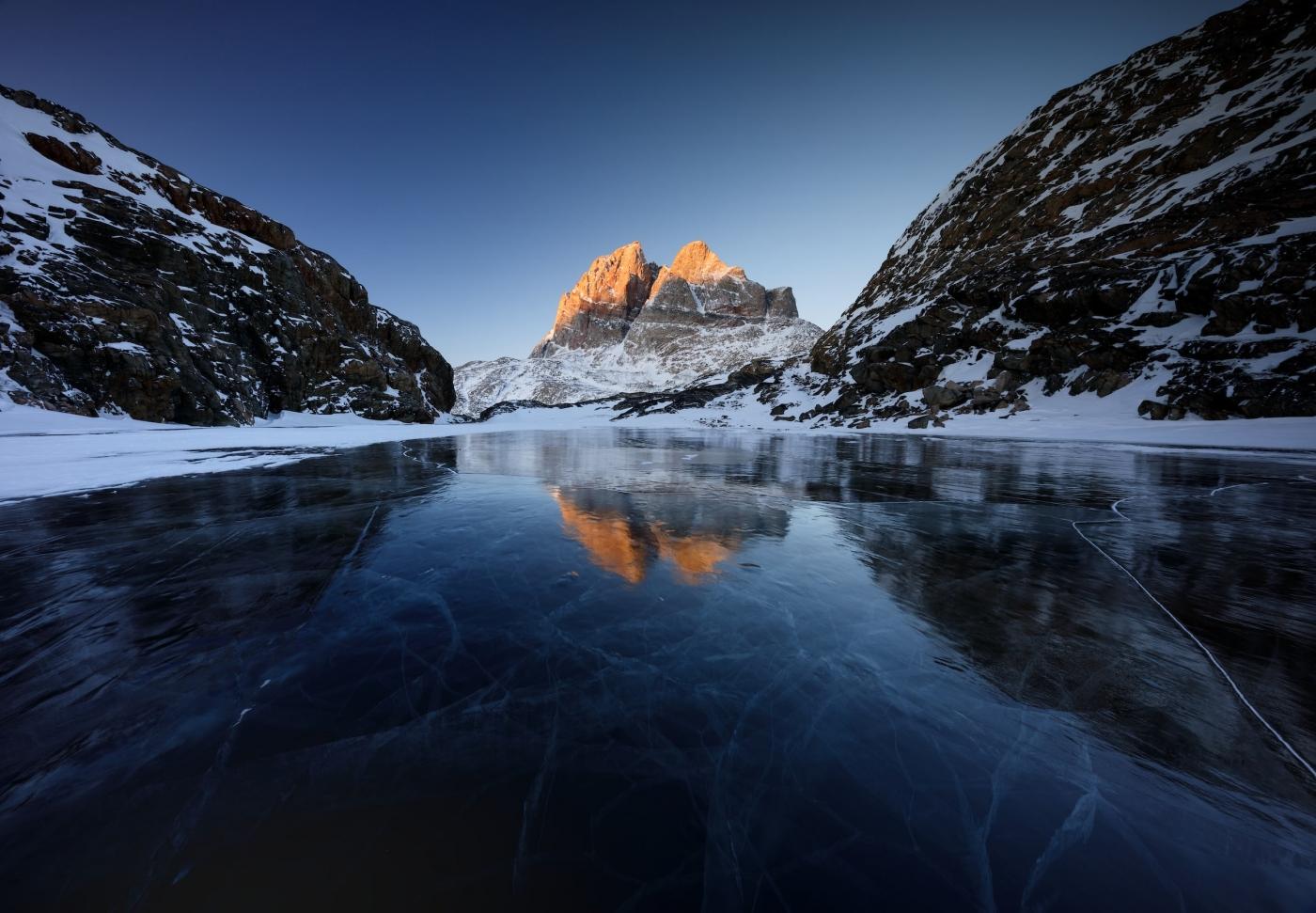 Frozen Lake In Uummannaq. Photo by Erez Marom - Visit Greenland
