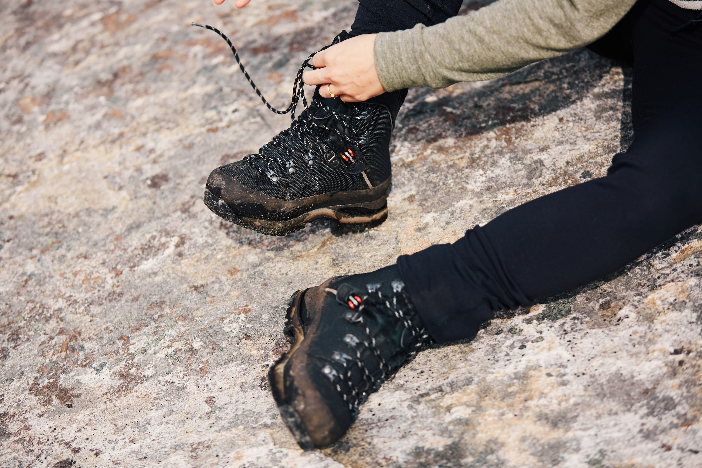 Hiking boots. Photo by Filip Gielda