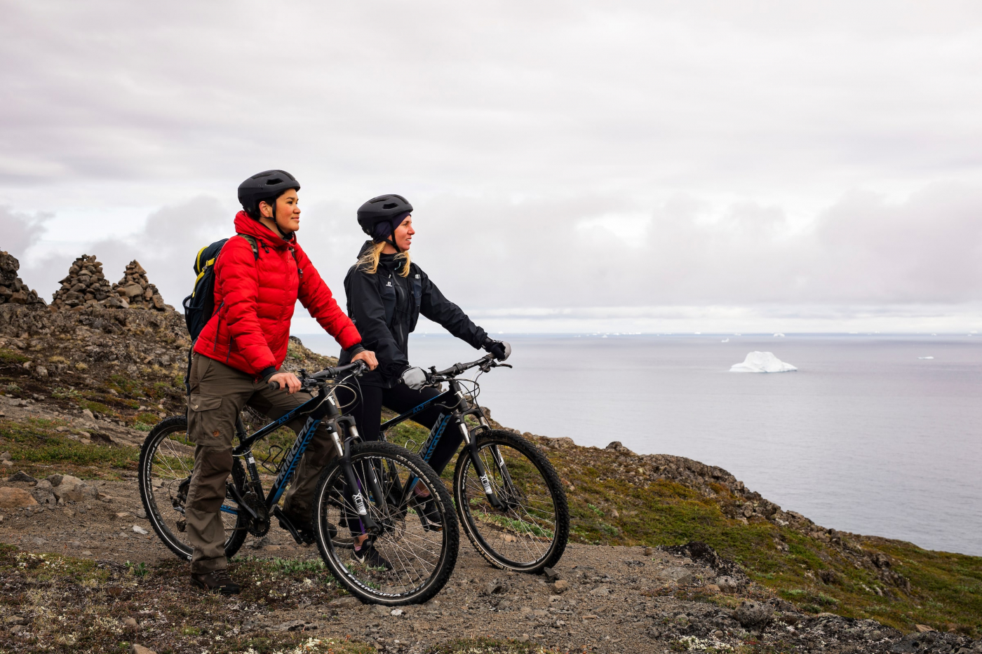 Mountain Bikers In Qeqertarsuaq. Aningaaq Rosing Carlsen - Visit Greenland