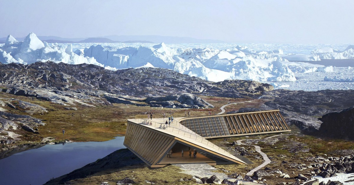 Render Icefjord Center the edge. Image by Mir