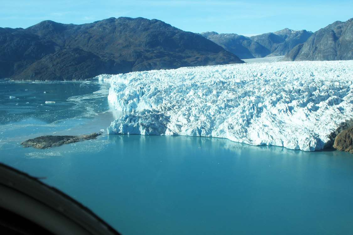 Greenland ice cap meets ocean. Photo by Blue Ice Explorer