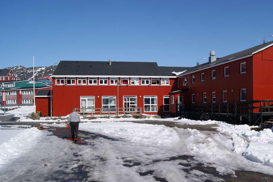View of hotel in Maniitsoq. Photo by Hotel Heilmann Lyberth - Visit Greenland