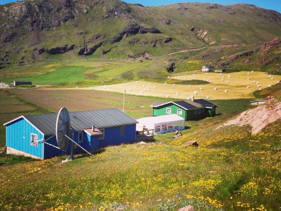 Overview of Inneruulalik Guest Farm in South Greenland. Photo by Inneruulalik Guest House