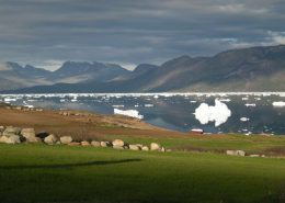 Beautiful view in sunlight from Ipiutaq Guest Farm in Summer. Photo by Agathe Devisme