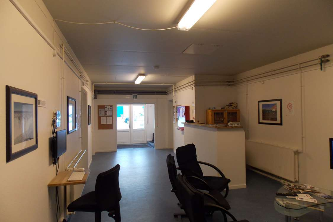 Reception and common area. Photo by Kangerlussuaq Youth Hostel - Visit Greenland