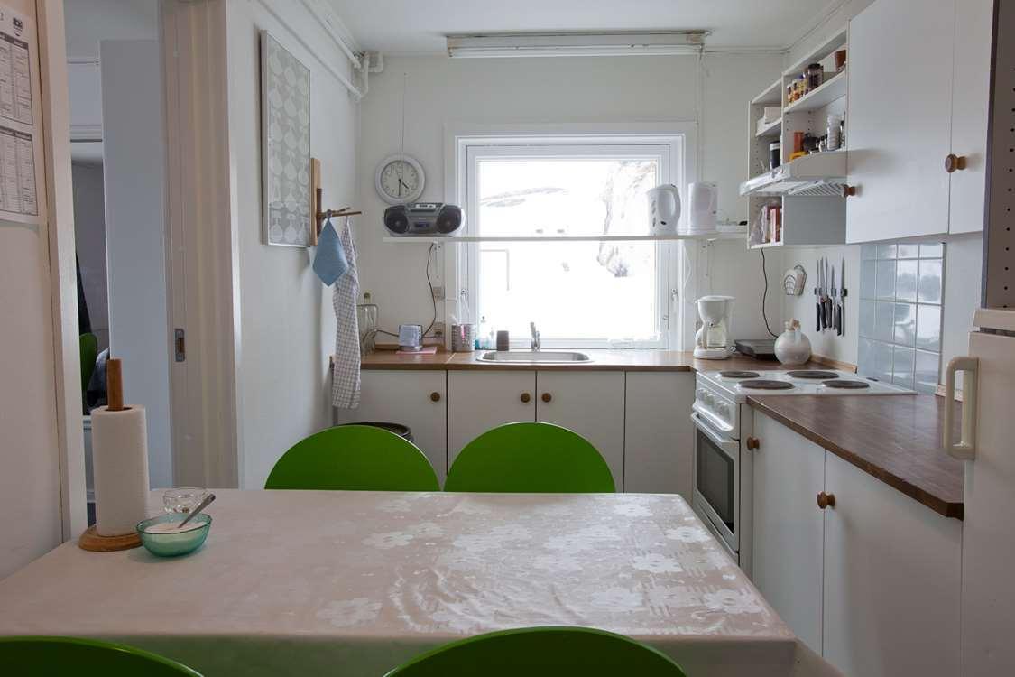 Kitchen at a hostel in Oqaatsut. Photo by North Greenland Adventure