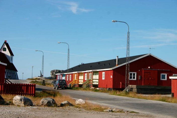 Frontside view of NTS Rooms in Nanortalik, South Greenland. Photo by Nanortalik Tourism Service