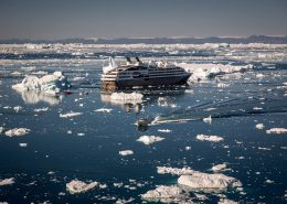 Ponant Cruises' L'Austral visiting Ilulissat in the Disko Bay in Greenland. By Mads Pihl
