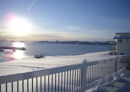 Seaside view from hotel apartment on a sunny day. Photo by Hotel apartment in Nuuk - Visit Greenland