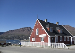 The old colonial residence which is today a part of our hotel. Photo Henrik Kaarsholm – Hotel Disko Island , Visit Greenland