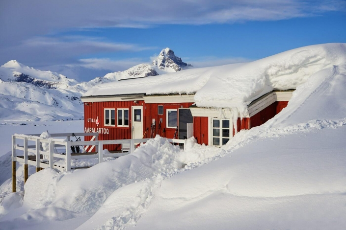 The Red House, East Greenland. Photo by Ulrike Fischer, Visit Greenland