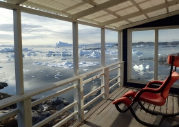Ilulissat Icefjord view from Blue House. Photo by Ilulissat Guesthouse - Visit Greenland