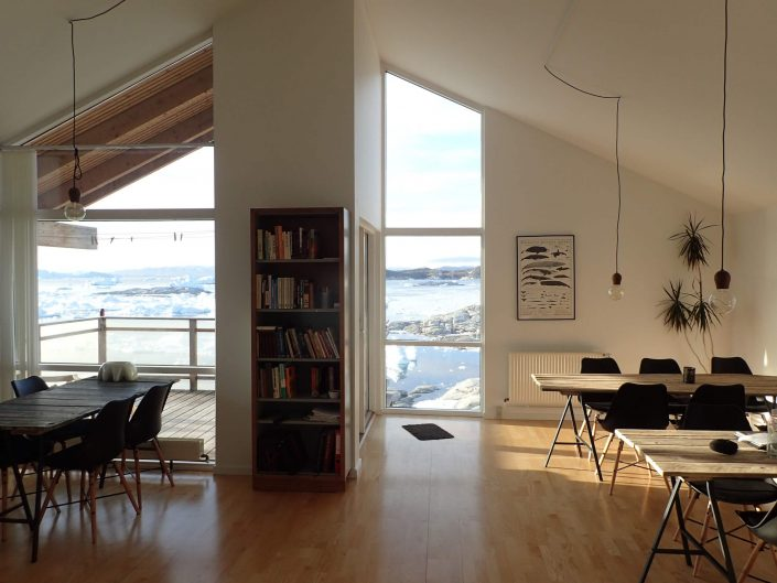 Blue House living room. Photo by Ilulissat Guesthouse - Visit Greenland