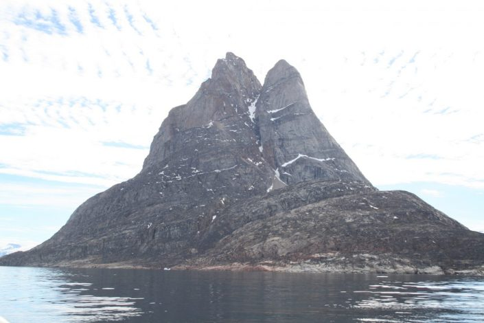 Heart-shaped mountain in the Uuumannaq Fjord. Photo by Greenland Fjord Tours, Visit Greenland