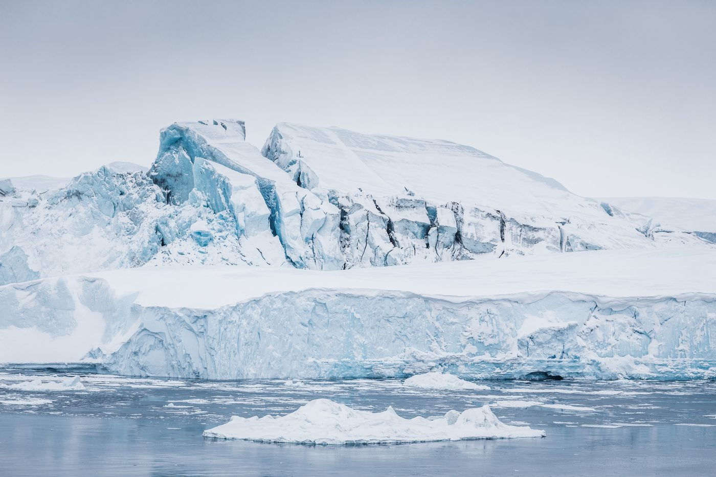 Massive iceberg grounded at the mouth of Ilulissat Icefjord. Photo by Samuel Letecheur, Visit Greenland