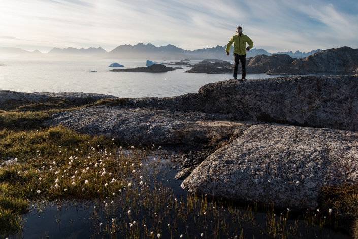 Going for a jog along the shore, West side of Kulusuk island. Photo by Chris Brin Lee Jr. - Visit Greenland