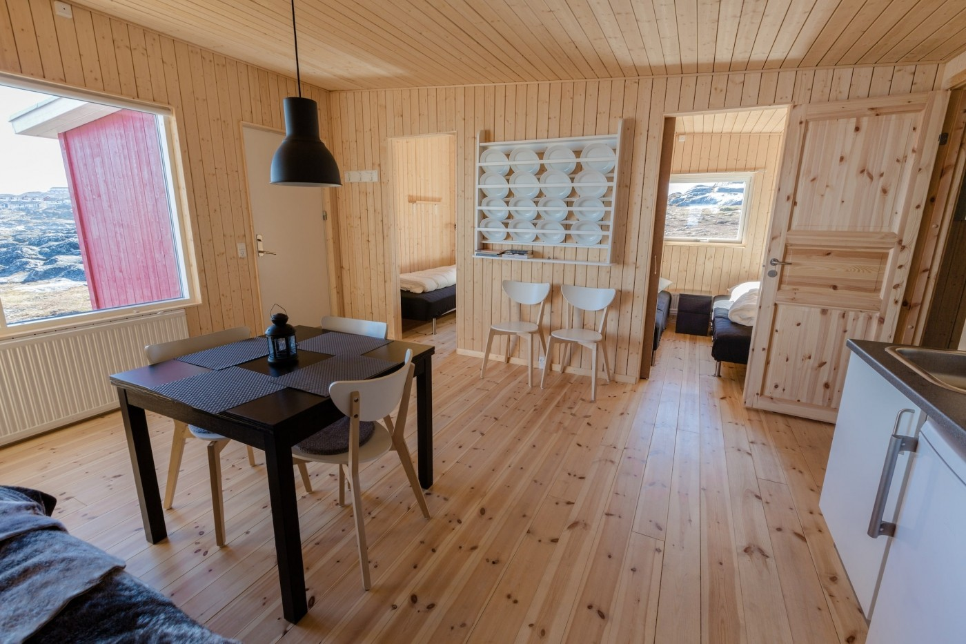 One of the lodges of Inuk Hostels, Nuuk. Photo by Daniel Gurrola - Visit Greenland