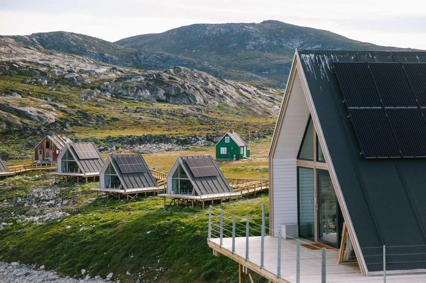 Some of the 15 sustainable huts that make up the Ilimanaq lodge- close up. Photo by Jessie Brinkman Evans - Visit Greenland