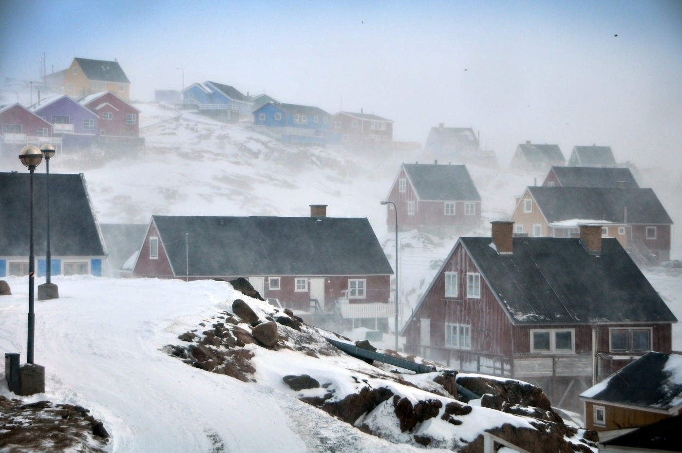 Storm over Sisimiut in Greenland. Photo by Mads Pihl - Visit Greenland
