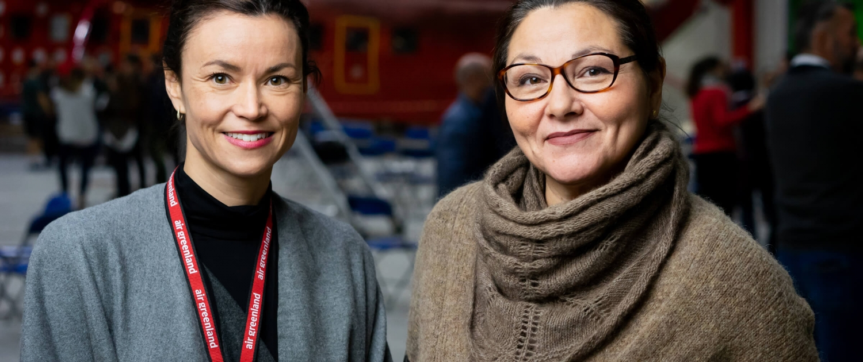 Maliina Abelsen and Julia Pars. Photo by Filip Gielda - Visit Greenland