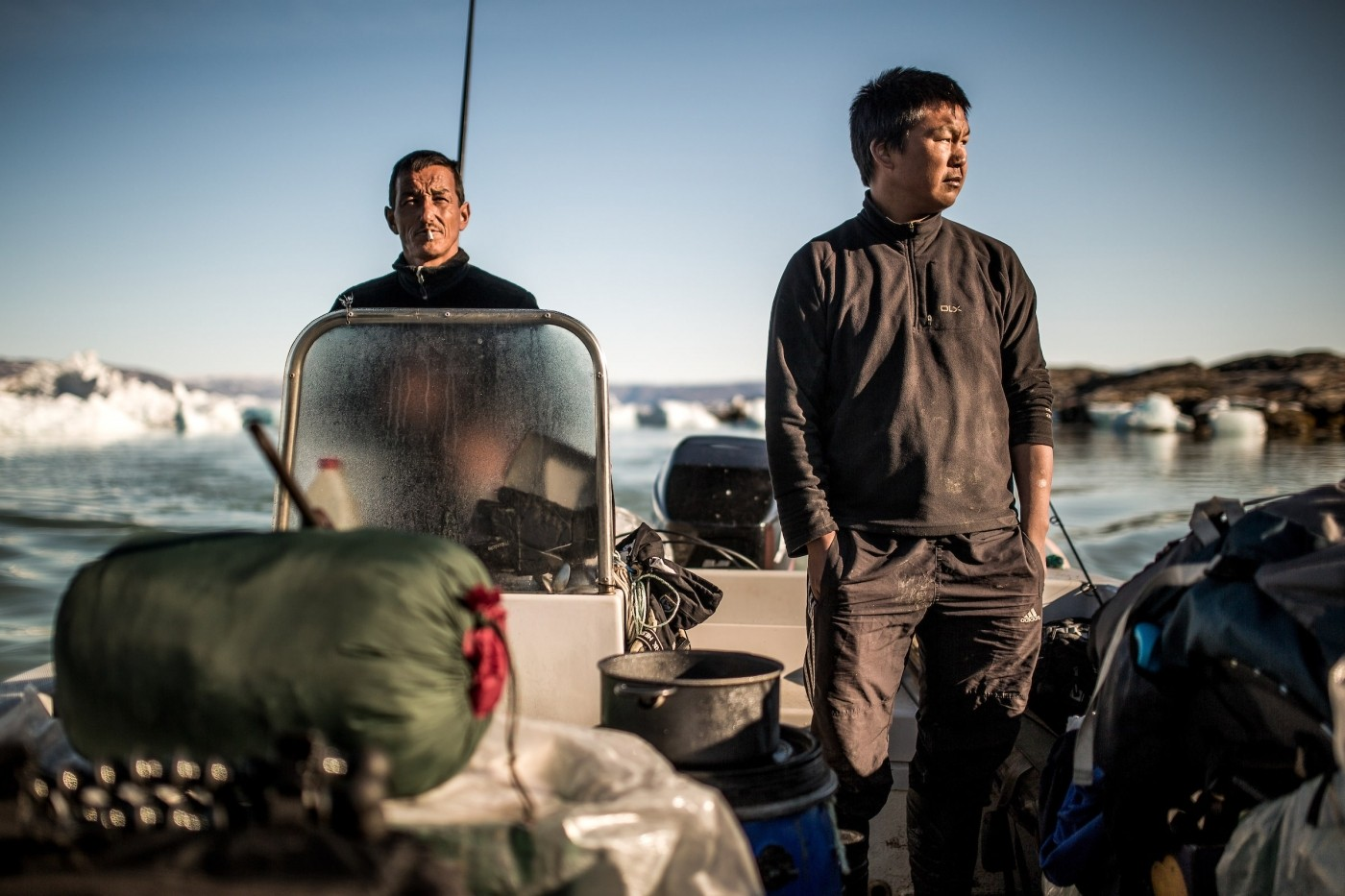 Two camp managers on a Greenland Travel trek in East Greenland. Photo by Mads Pihl - Visit Greenland