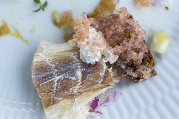 Lumpfish roe and dried cod. Photo by Greenland In A Bite by Greenlandic Foodlover