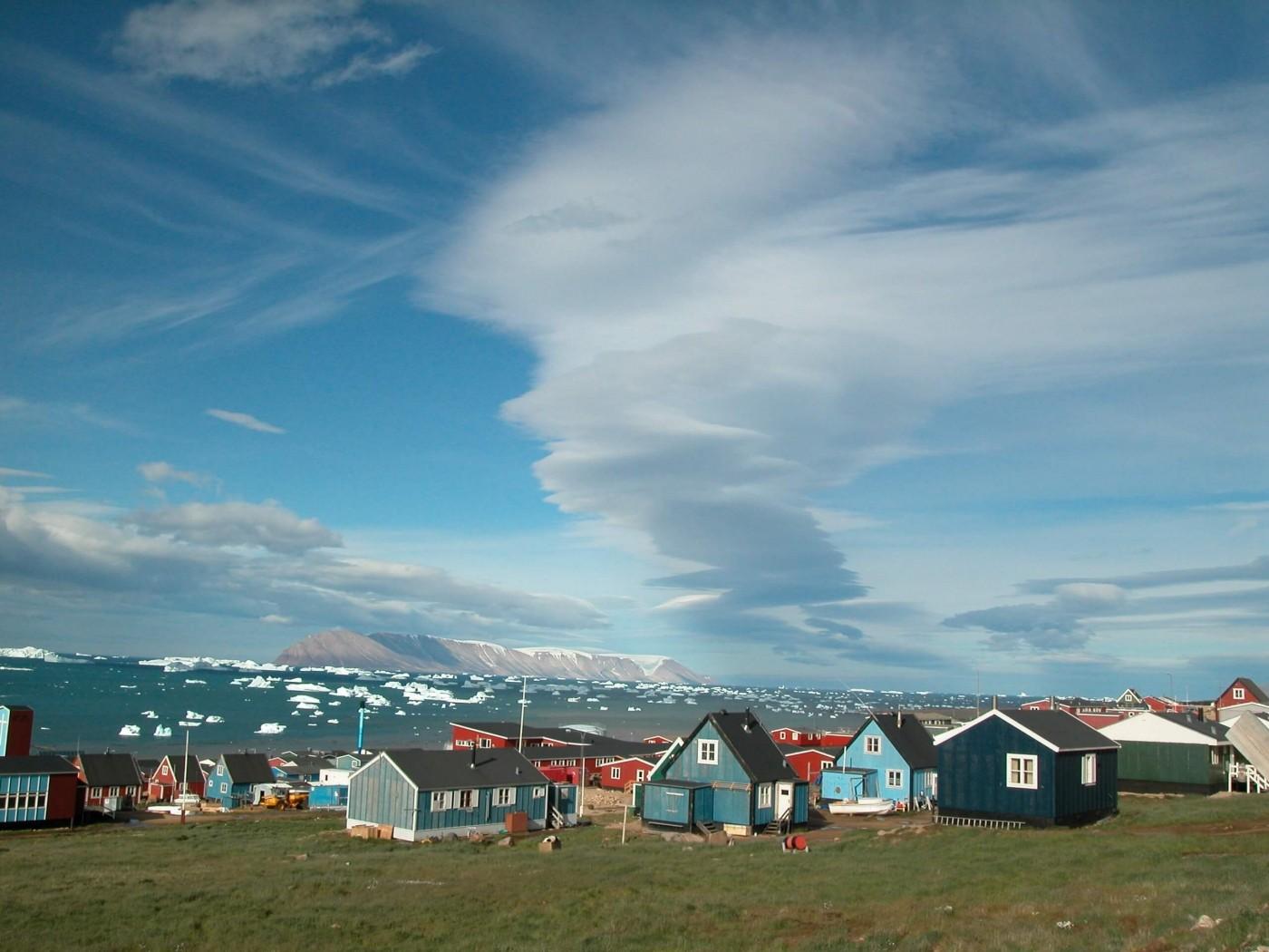 Colourful houses in Qaanaaq. Visit Greenland