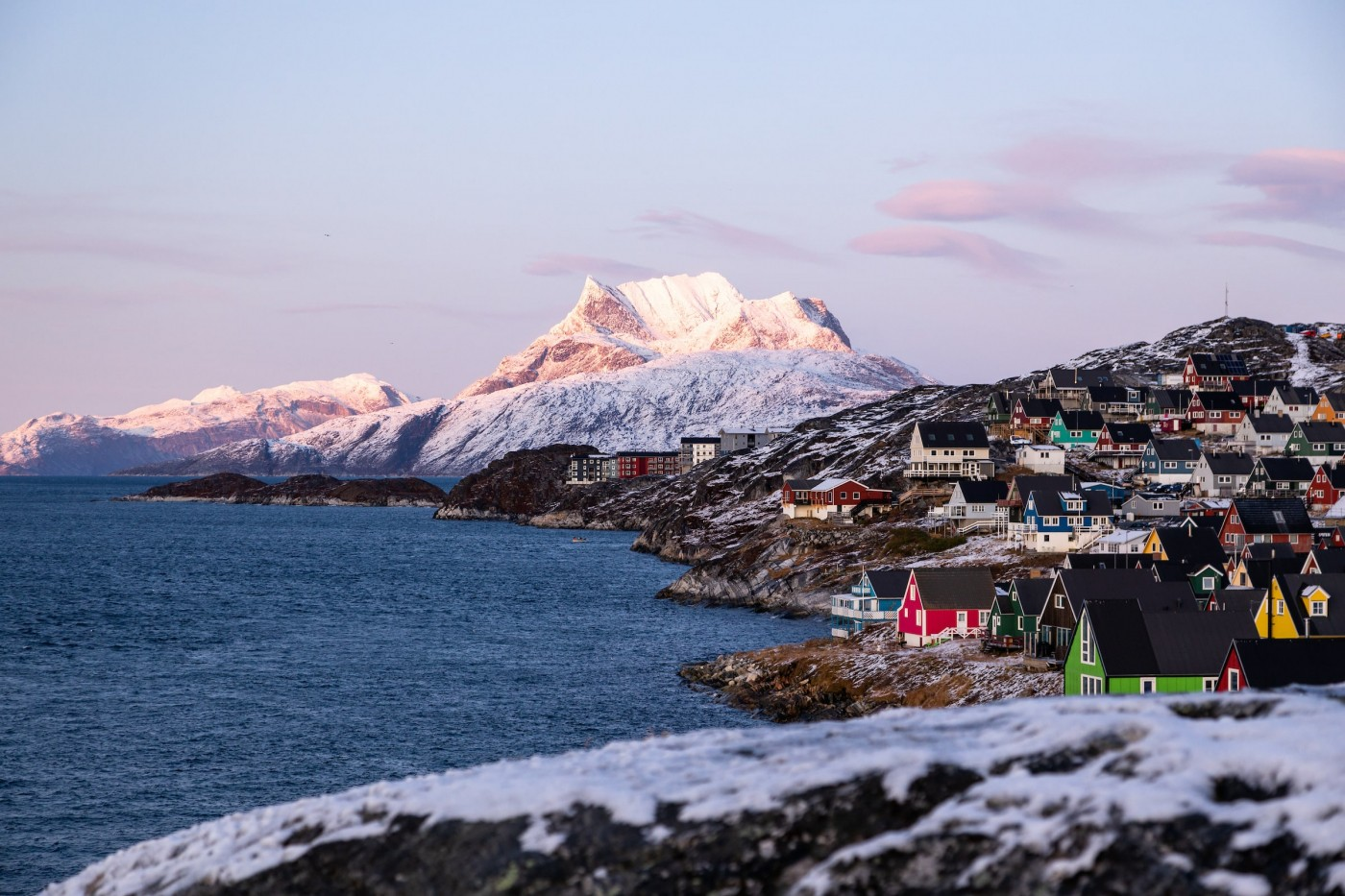 View Point In Nuuk. Photo by Matthew Littlewood - Visit Greenland