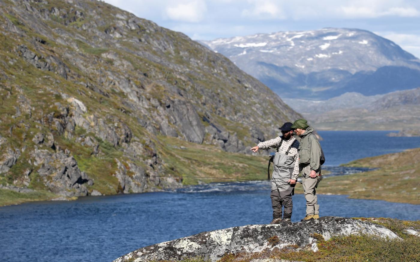 Two Fishermen near Amitsuarsuk. Photo - Crispin Rodwell, Visit Greenland