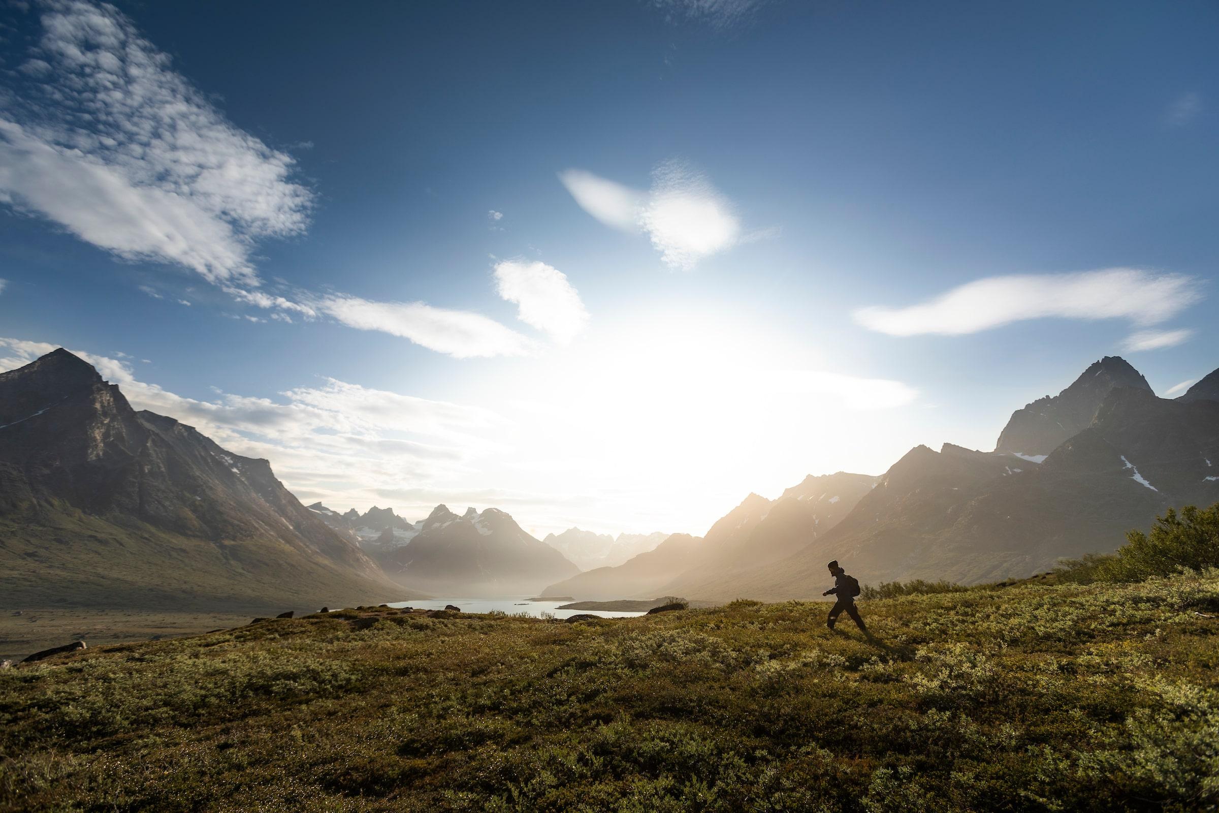 Hiking the Tasermiut fjord. Photo - Aningaaq R. Carlsen, Visit Greenland