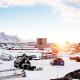 Sunrise over snow covered, Nuuk. Photo - Rebecca Gustafsson , Visit Greenland