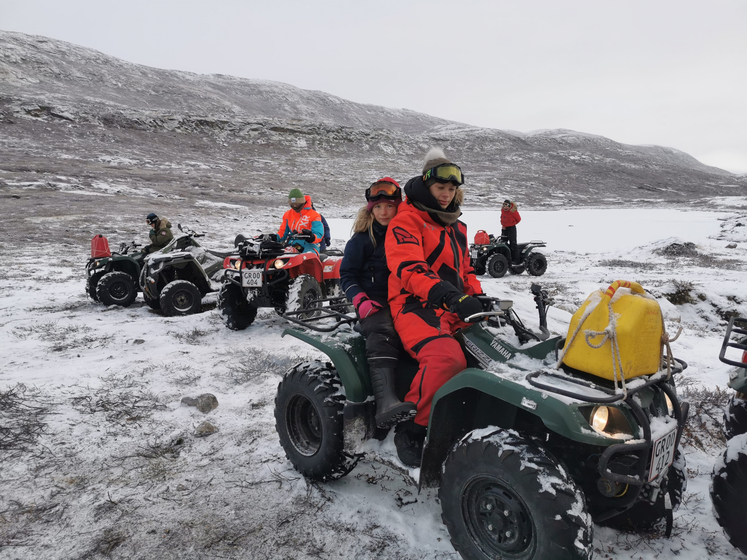 ATV test driving on Arctic Circle Road. Photo by Anette Lings