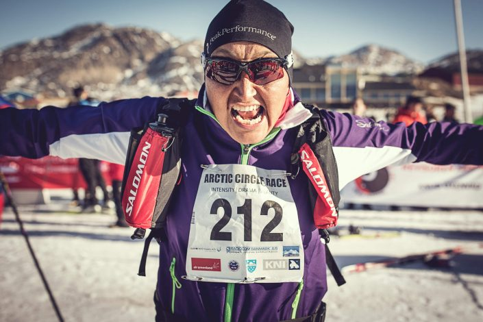 An Arctic Circle Race skier raring to go. Photo by Mads Pihl, Visit Greenland