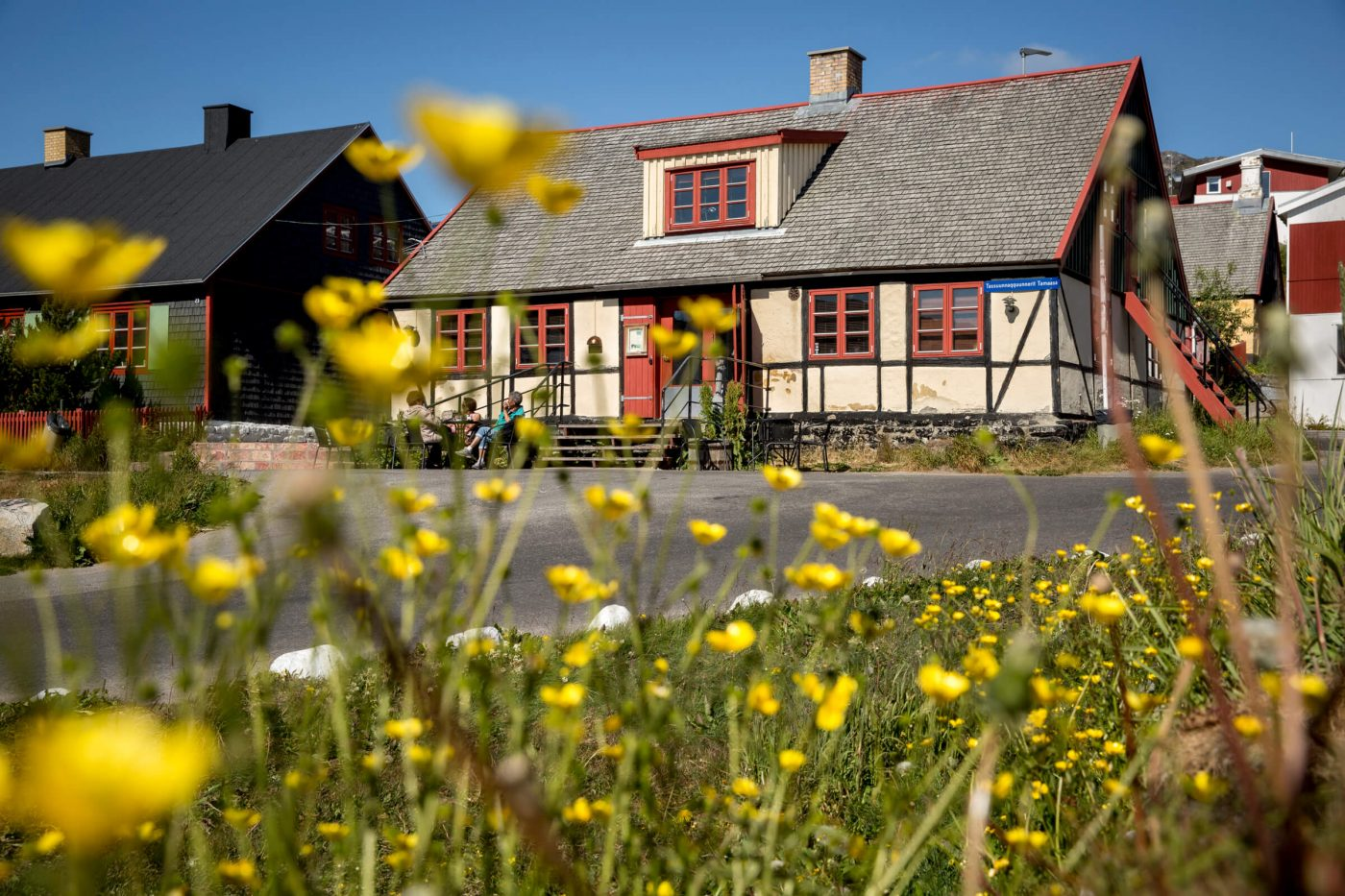 The old buildings in Qaqortoq town centre in South Greenland. Photo by Mads Pihl - Visit Greenland
