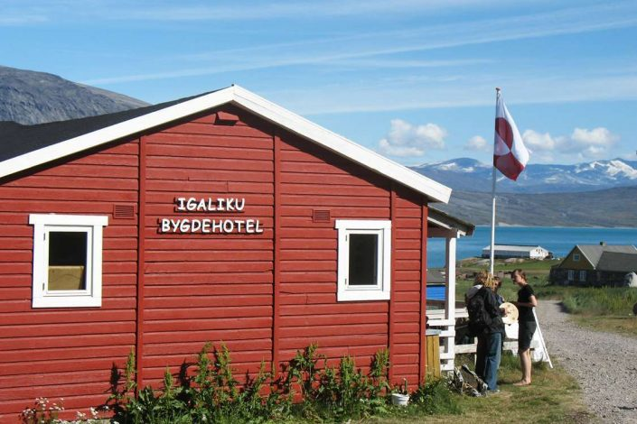 Igaliku Country Hotel frontside in South Greenland. Photo by Igaliku Country Hotel - Visit Greenland