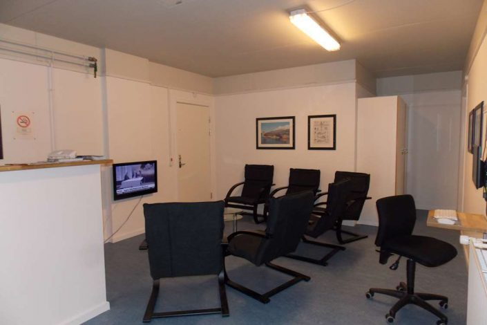 Common room with TV area. Photo by Kangerlussuaq Youth Hostel - Visit Greenland